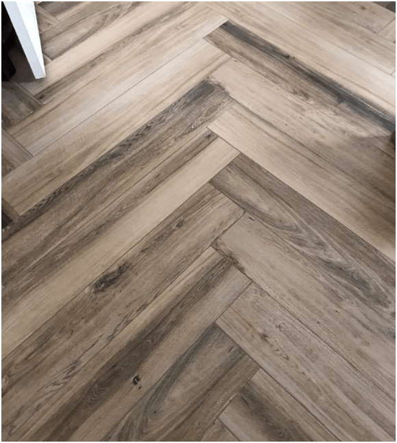 Closeup of wood flooring