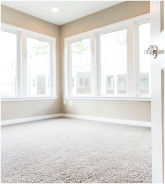 Light colored carpet in bright room