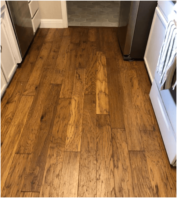 Laminate flooring install in kitchen