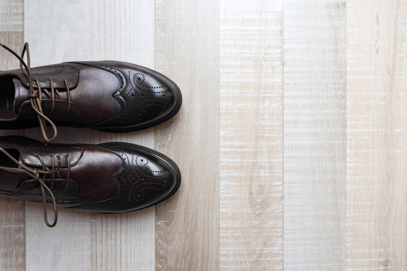 a pair of shoes and flooring